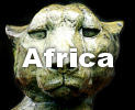 Sculptures of African wildlife